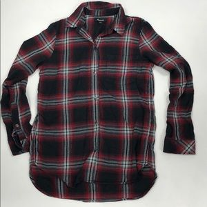 MADEWELL Plaid Flannel Shirt